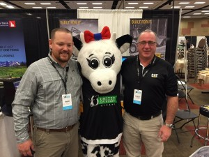 Who wouldn't be thrilled to attend the United Dairymen of Idaho conference with such a good looking dairy cow on their arm? David and Darryl certainly were.