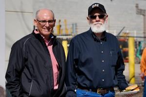 Jon Reigles (right) with President Tom Harris.