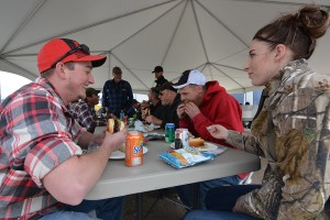 Everyone came hungry to Kalispell's customer appreciation BBQ lunch.