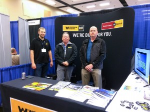 Jeff Wallace, Tim Horting and Justin Keller (left to right) spent two days raising awareness about the EPG team and gaining valuable insight at the Pacific Northwest Section American Water Works Conference.