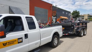 Toby and Alex dropped the bikes off at the Boise Bicycle Project.