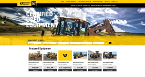 The new used-equipment website makes it easy for potential customers to find the equipment they need.