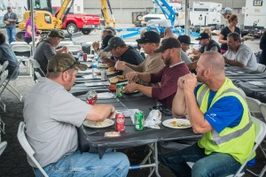 A good crowd showed up for burgers and dogs at the Spokane Truck Shop.