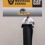 President Tom Harris thanks the customers for attending.