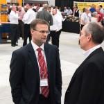 Mayor Blad speaks with CEO Tom Terteling.