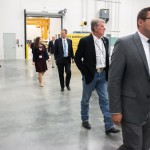 Governor Otter touring the facility.
