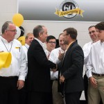 Tom Terteling and Mayor Blad celebrate the ribbon cutting from the second night.